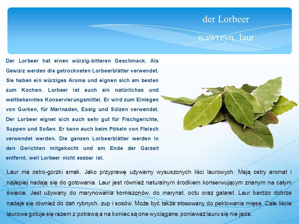 der Lorbeer wawrzyn, laur Die Lorbeeröl ist sehr oft für die Medizin verwendet.