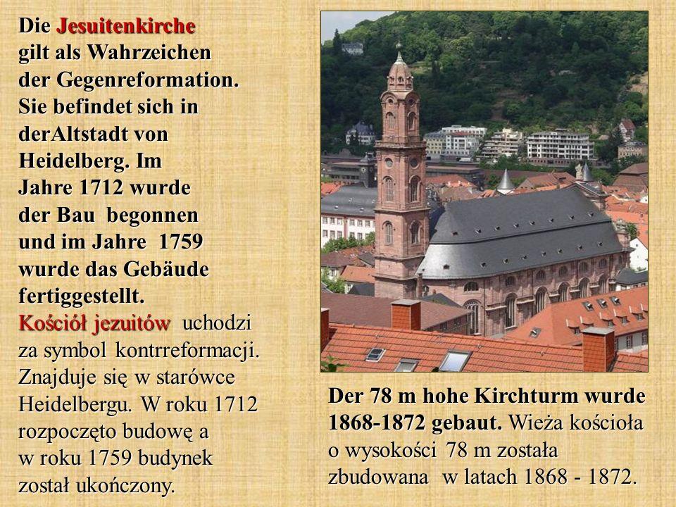Die Jesuitenkirche gilt als Wahrzeichen der Gegenreformation.