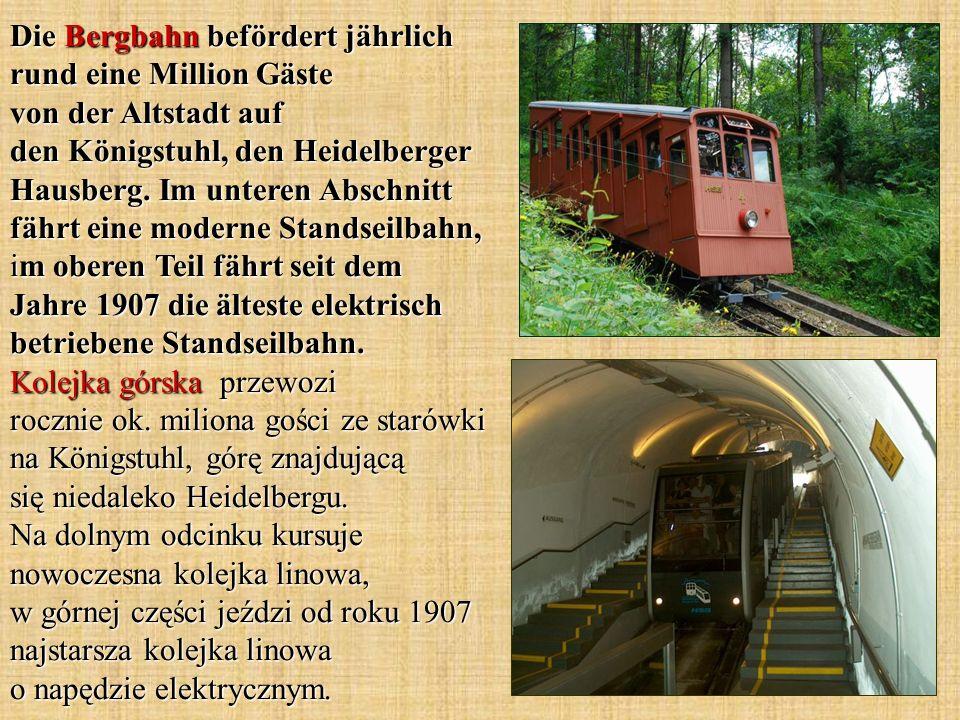 Die Bergbahn befördert jährlich rund eine Million Gäste von der Altstadt auf den Königstuhl, den Heidelberger Hausberg.