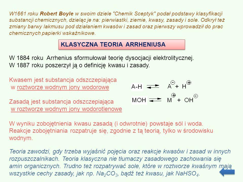 Znacznym rozszerzeniem teorii Arrheniusa jest ogłoszona w 1923 roku, niezależnie przez J.N.