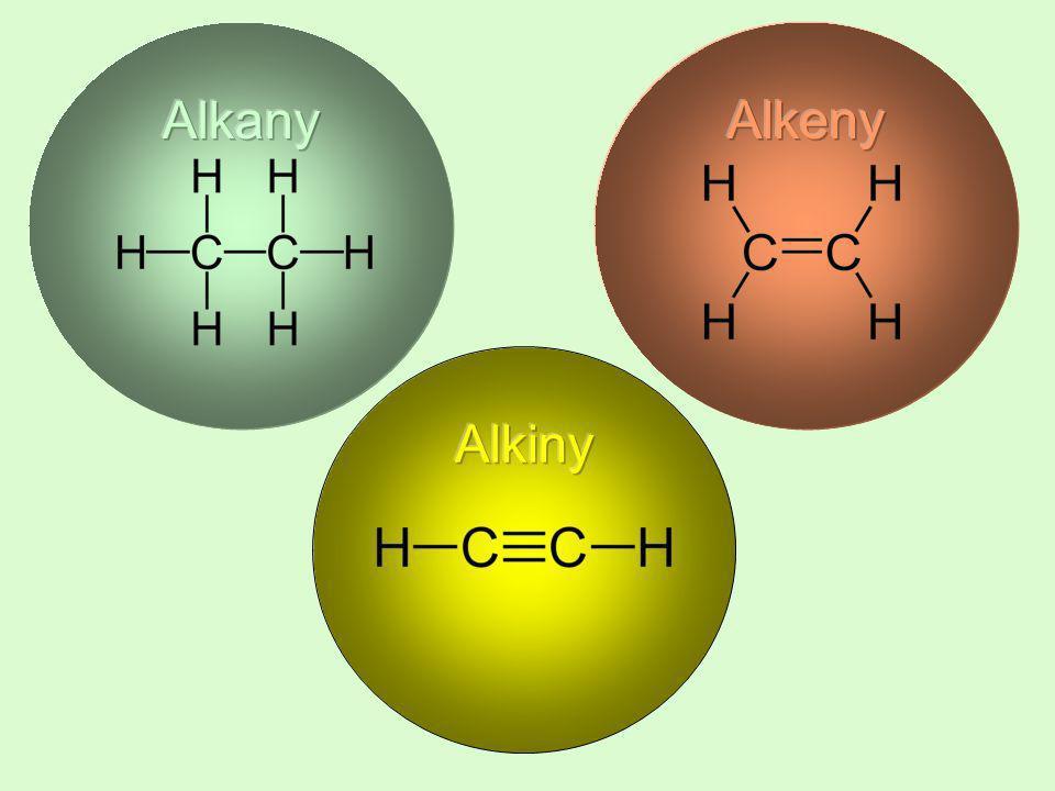 Przedstawiciele alkenów ( olefin ) Alkeny, podobnie jak alkany, tworzą szereg homologiczny.