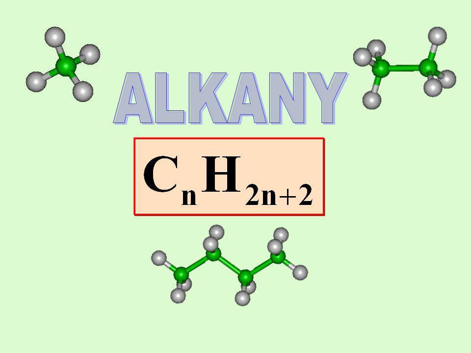 Właściwości chemiczne alkanów Alkany są związkami biernymi chemicznie.