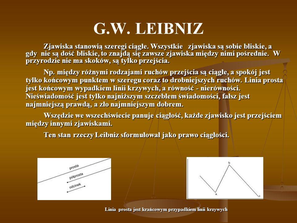 G.W.LEIBNIZ SUBSTANCJE STANOWIĄ HIERARCHIĘ.
