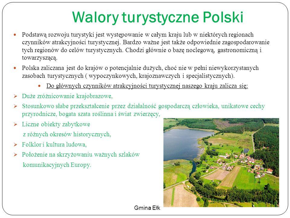 Walory turystyczne Polski Podstawą rozwoju turystyki jest występowanie w całym kraju lub w niektórych regionach czynników atrakcyjności turystycznej.