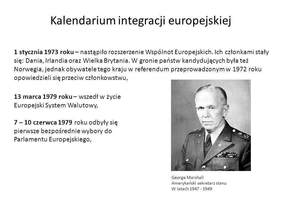 1 stycznia 1973 roku – nastąpiło rozszerzenie Wspólnot Europejskich. Ich członkami stały się: Dania, Irlandia oraz Wielka Brytania. W gronie państw ka