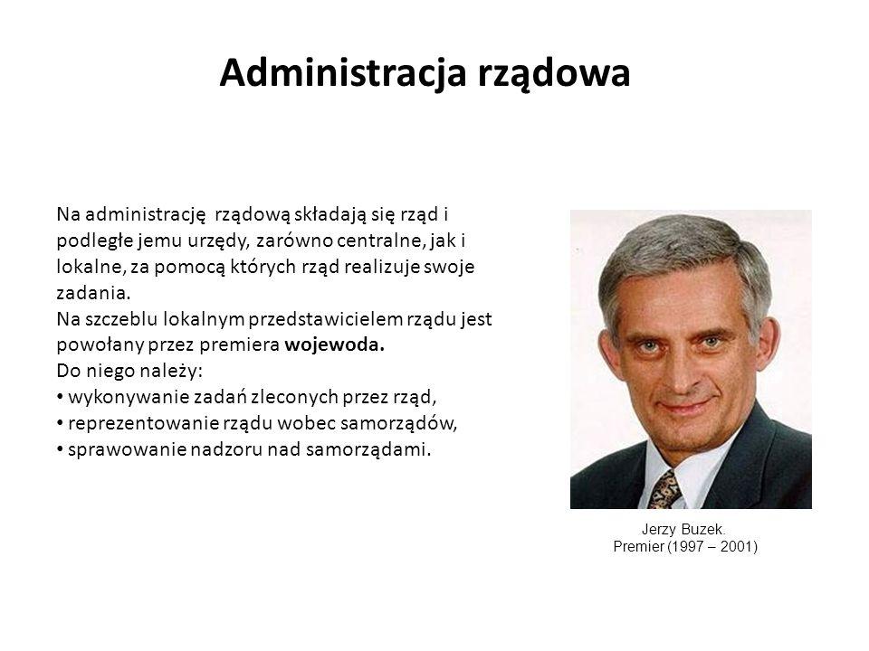 Administracja rządowa Na administrację rządową składają się rząd i podległe jemu urzędy, zarówno centralne, jak i lokalne, za pomocą których rząd realizuje swoje zadania.