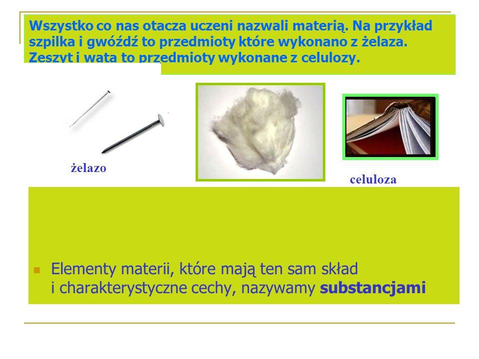 Stan skupienia substancji chemicznej Substancje chemiczne mogą występować w stanie: gazowym (np.para wodna) ciekłym (np.kwas siarkowy VI ) stałym (np.tlenek wapnia)