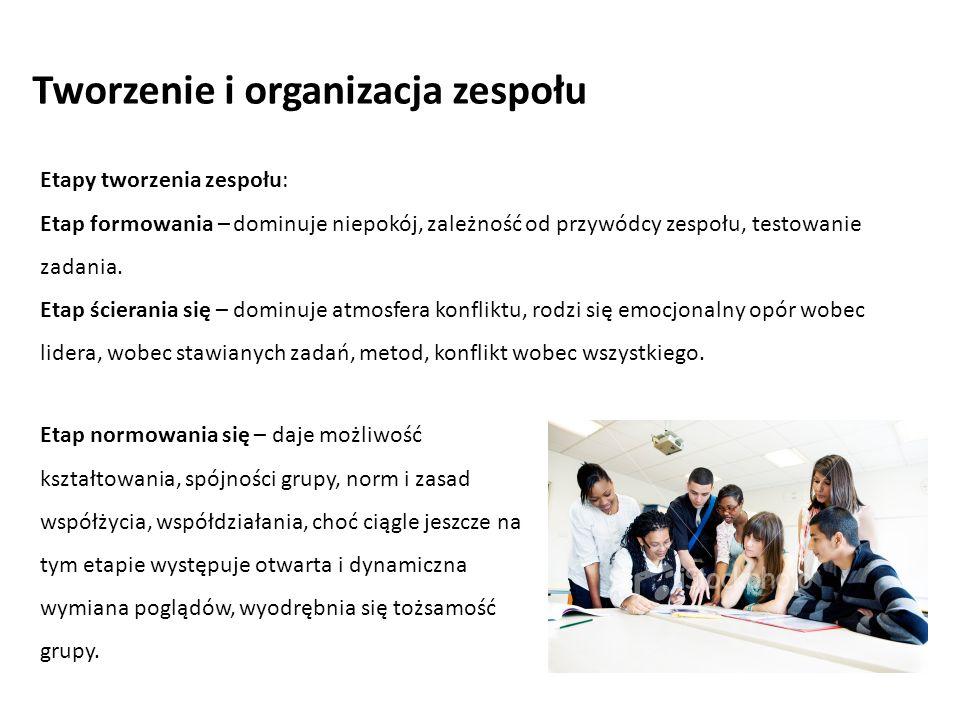 Etap normowania się – daje możliwość kształtowania, spójności grupy, norm i zasad współżycia, współdziałania, choć ciągle jeszcze na tym etapie występ