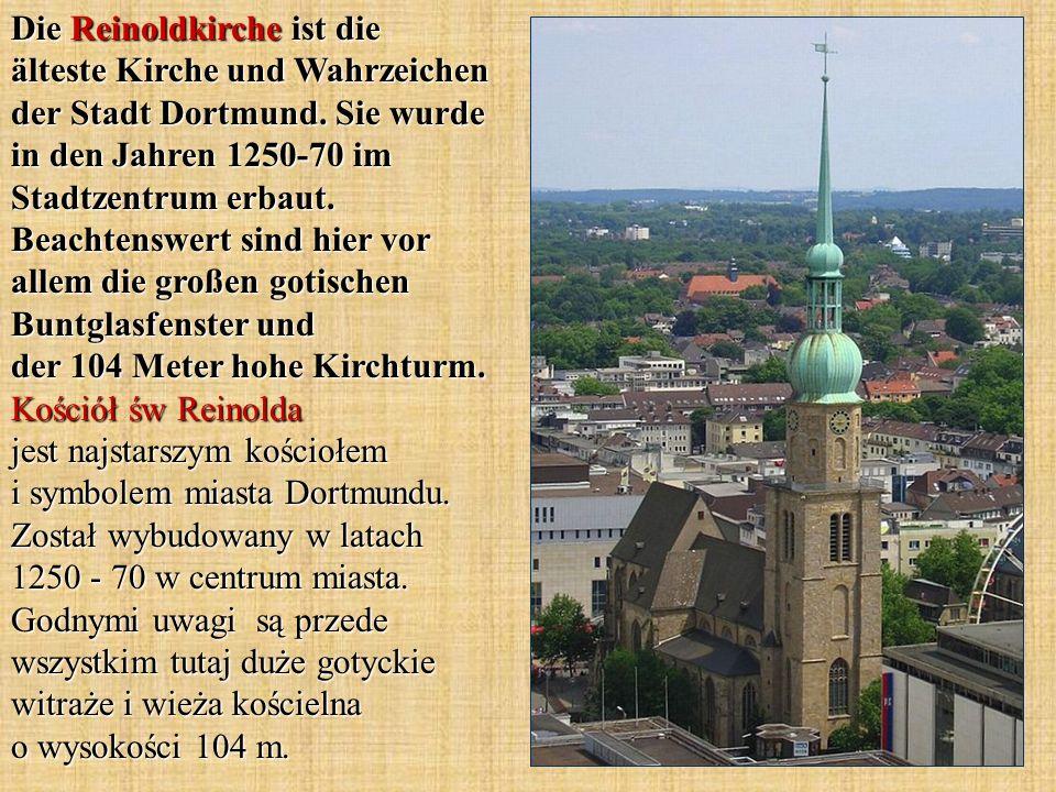 Die Reinoldkirche ist die älteste Kirche und Wahrzeichen der Stadt Dortmund. Sie wurde in den Jahren 1250-70 im Stadtzentrum erbaut. Beachtenswert sin