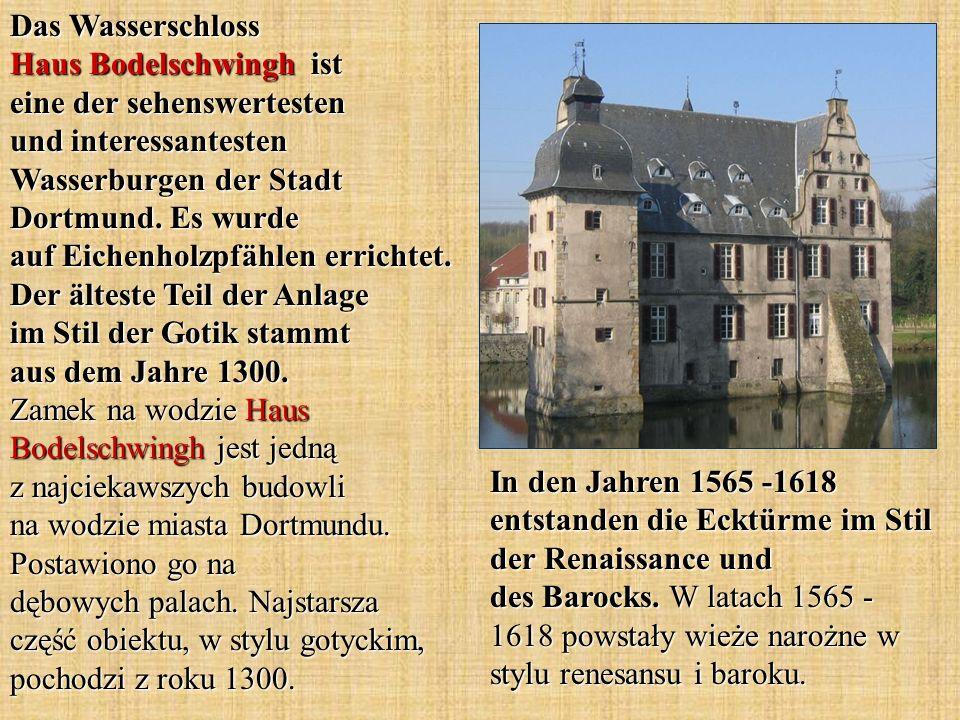 Das Wasserschloss Haus Bodelschwingh ist eine der sehenswertesten und interessantesten Wasserburgen der Stadt Dortmund. Es wurde auf Eichenholzpfählen
