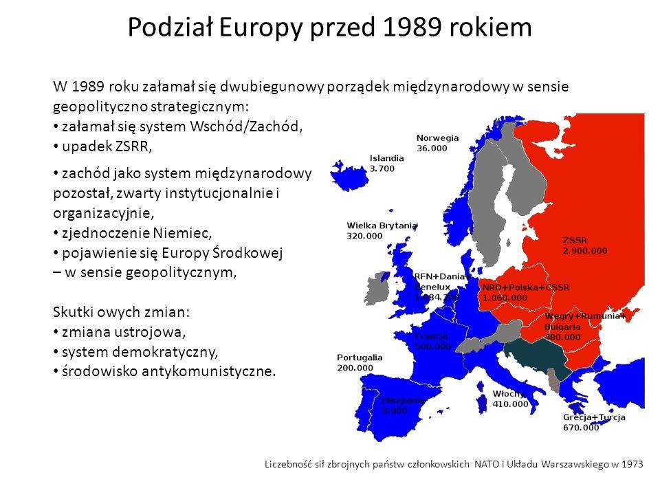 W 1989 roku załamał się dwubiegunowy porządek międzynarodowy w sensie geopolityczno strategicznym: załamał się system Wschód/Zachód, upadek ZSRR, zach