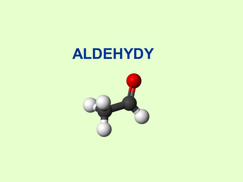 E.Polimeryzacja aldehydów Ulegają jej najprostsze aldehydy (np.