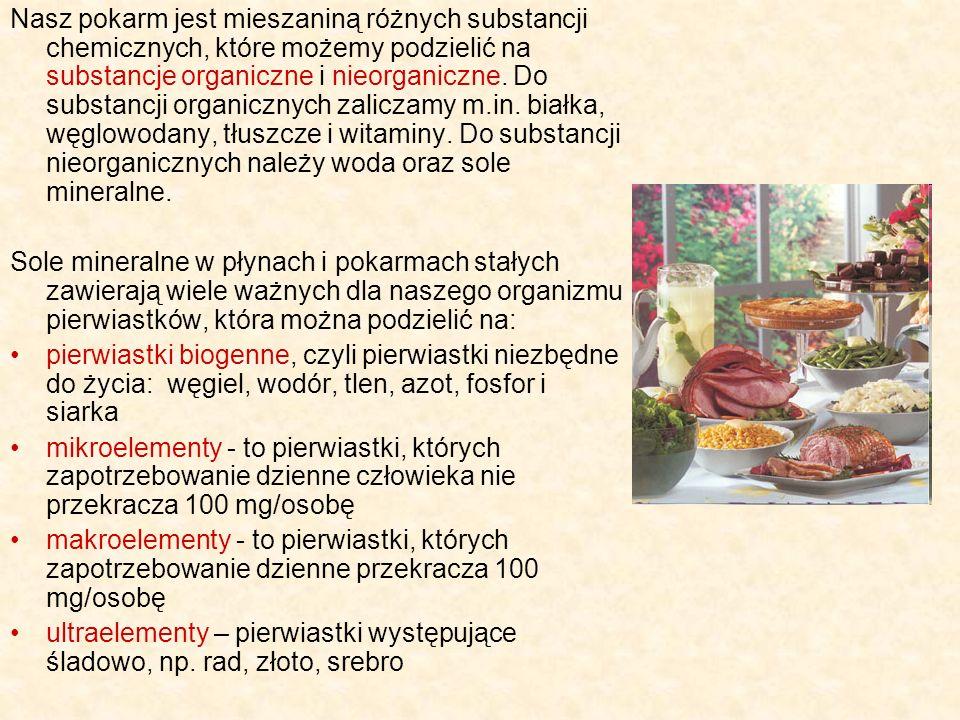 Mikroelementy Żelazo - składnik hemoglobiny i mioglobiny.