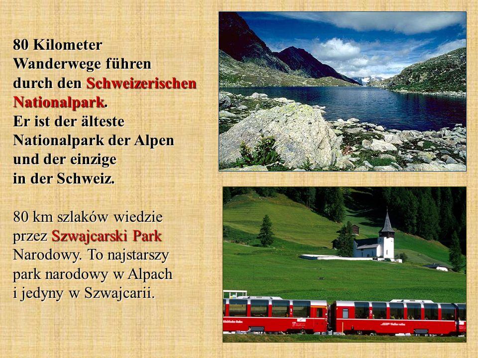 80 Kilometer Wanderwege führen durch den Schweizerischen Nationalpark. Er ist der älteste Nationalpark der Alpen und der einzige in der Schweiz. 80 km