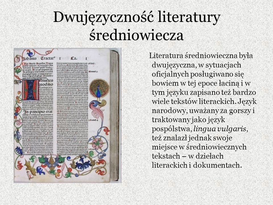 Zabytki piśmiennictwa polskiego Jako zabytki języka polskiego traktuje się wszystkie teksty polskie zapisane w średniowieczu, od fragmentów do tekstów ciągłych.