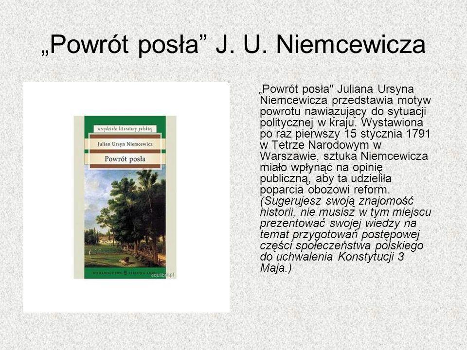 Powrót posła J. U. Niemcewicza Powrót posła