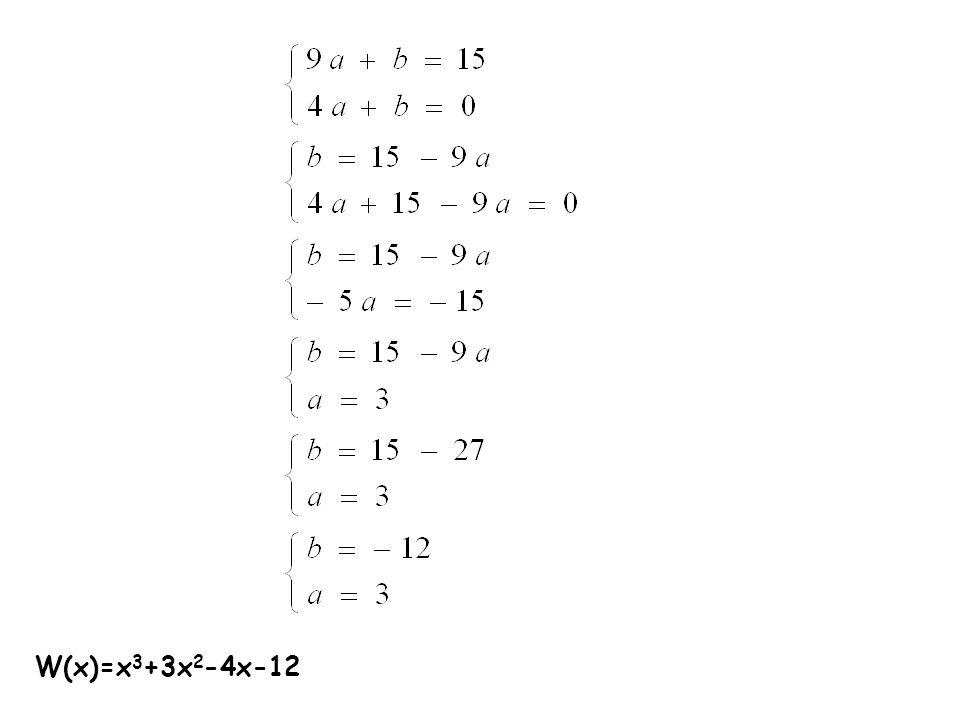 W(x)=x 3 +3x 2 -4x-12