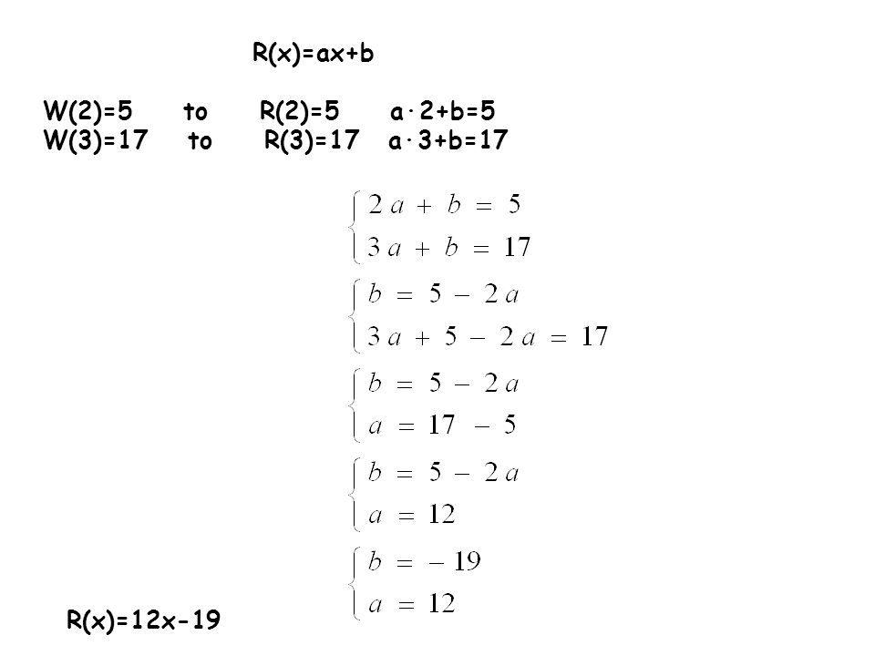 Ćw.3.Nie wykonując dzielenia, oblicz resztę z dzielenia wielomianu W(x) przez dwumian P(x).