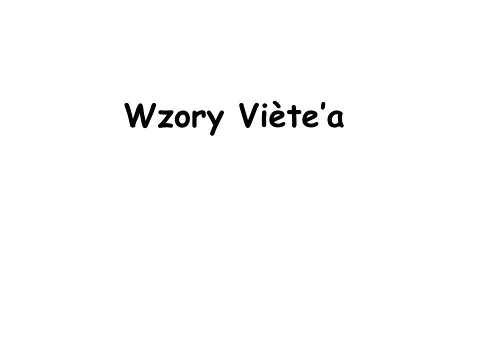Wzory Viètea