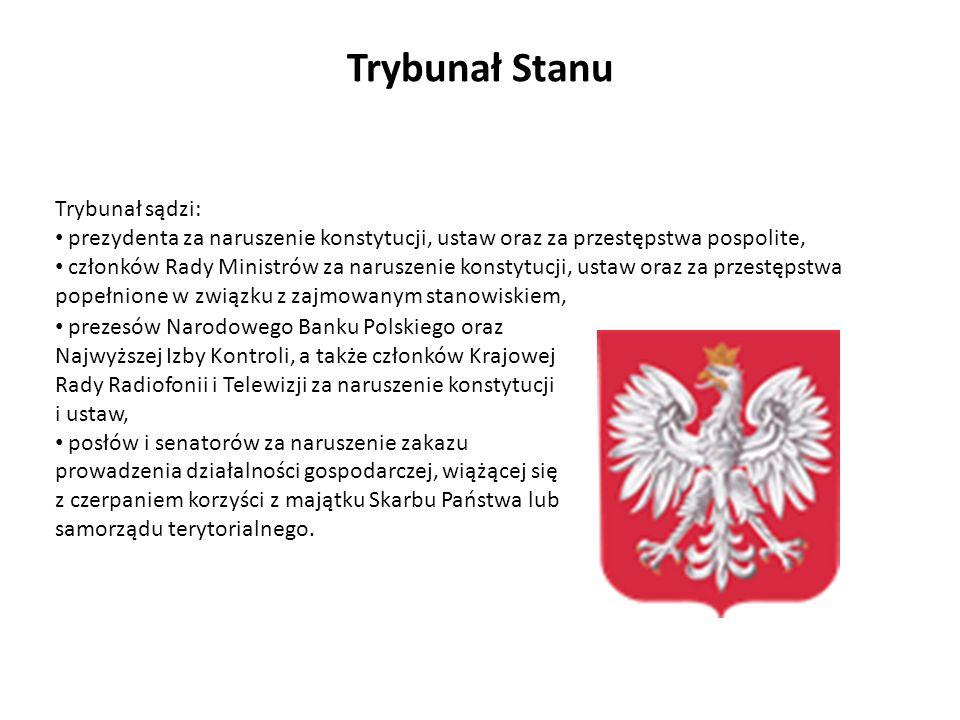 prezesów Narodowego Banku Polskiego oraz Najwyższej Izby Kontroli, a także członków Krajowej Rady Radiofonii i Telewizji za naruszenie konstytucji i u