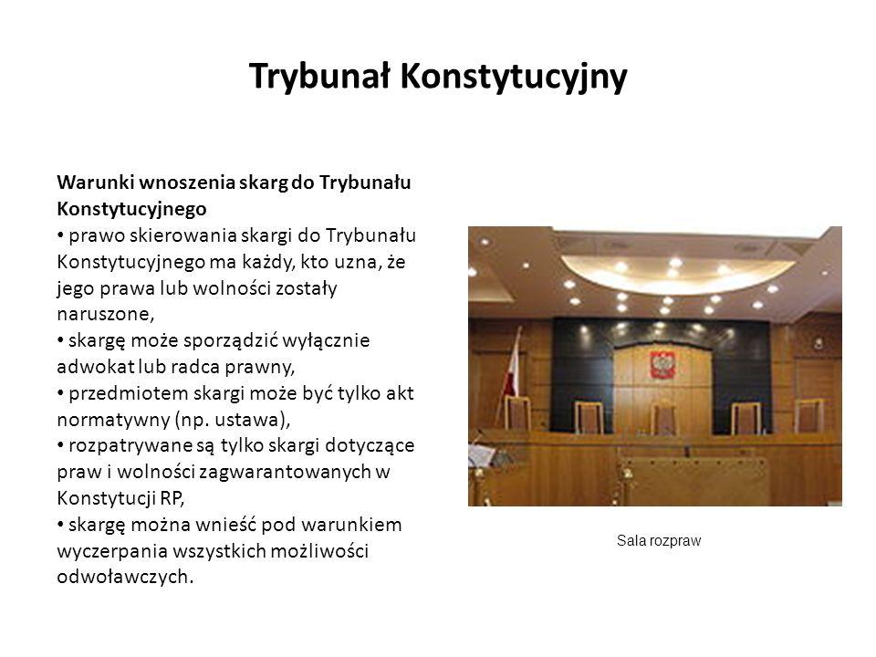 Warunki wnoszenia skarg do Trybunału Konstytucyjnego prawo skierowania skargi do Trybunału Konstytucyjnego ma każdy, kto uzna, że jego prawa lub wolno