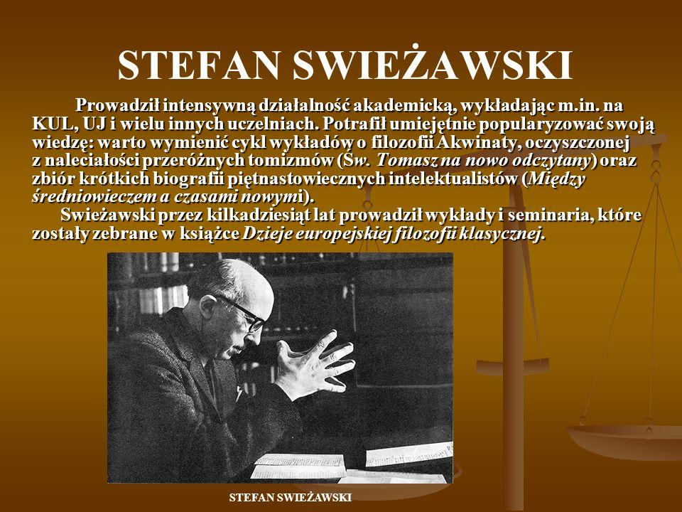 Swoje credo filozoficznegosformułował w książce Zagadnienie historii filozofii - określenie historiografii filozofii jako nauki zależy od posiadanego pojęcia filozofii.
