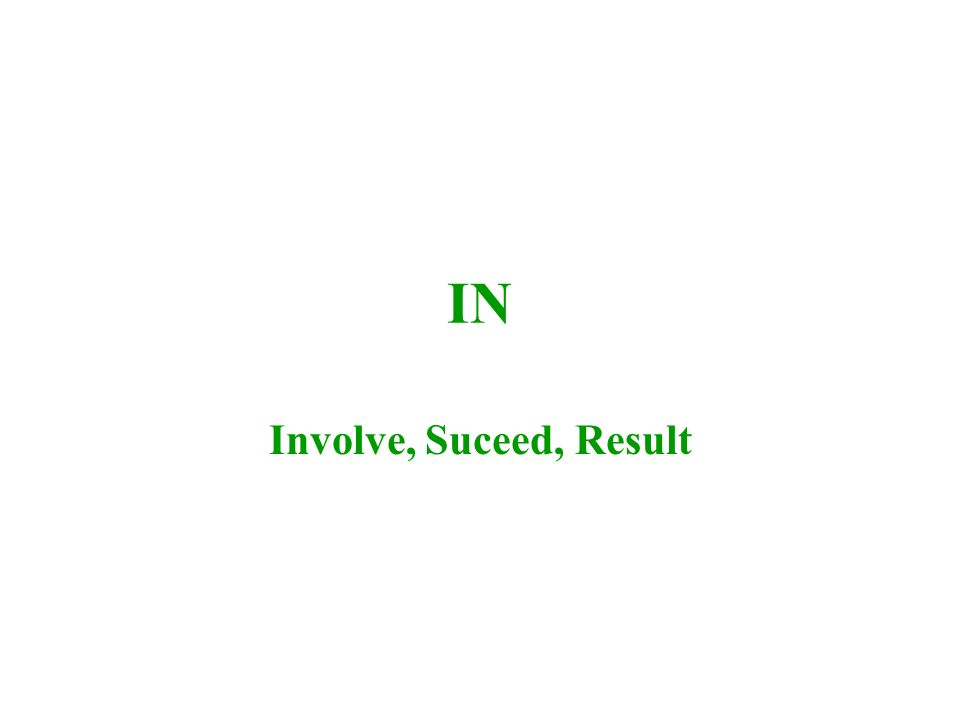 IN Involve, Suceed, Result