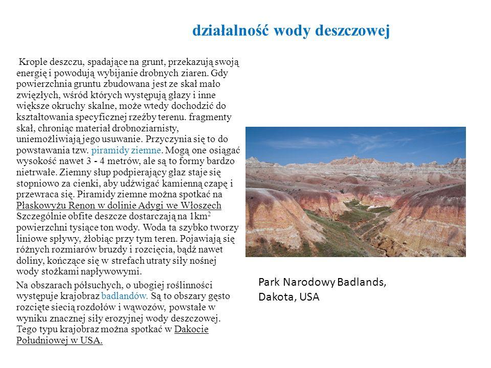 Tarasy rzeczne w profilu poprzecznym doliny rzecznej Tarasy erozyjne Tarasa akumulacyjna; Akumulacyjne dno doliny z wałami nadrzecznymi Tarasa erozyjno - akumulacyjna