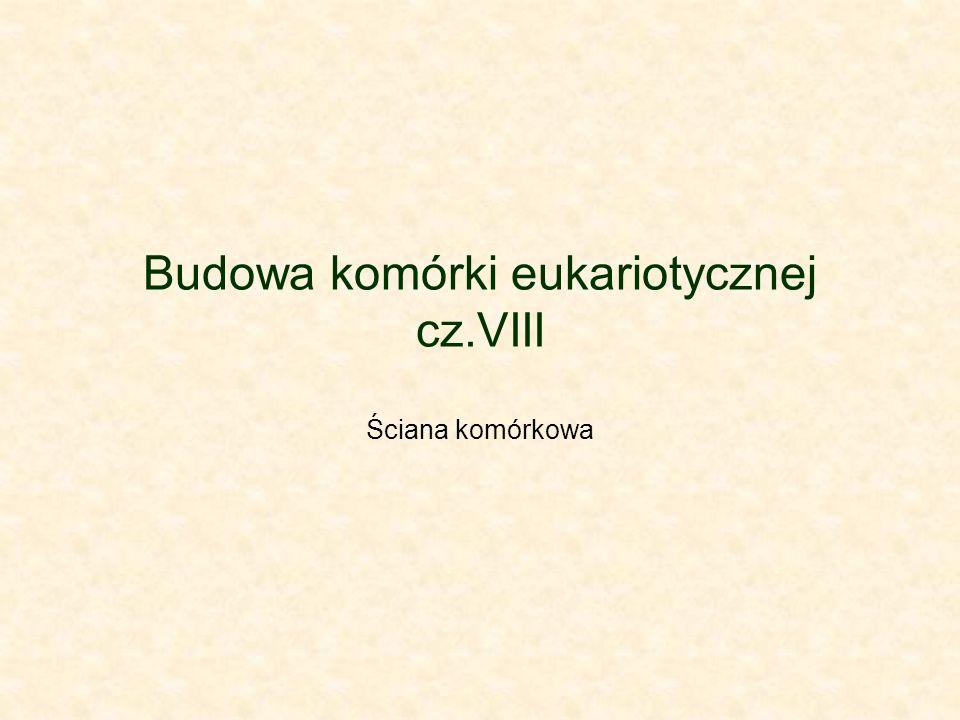 Budowa komórki eukariotycznej cz.VIII Ściana komórkowa