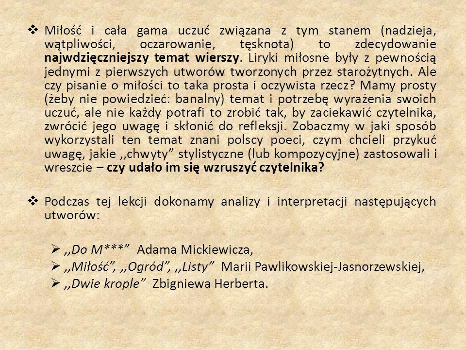 Panna Maryla – muza poety.