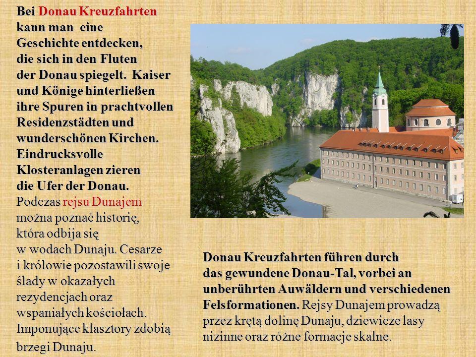 Bei Donau Kreuzfahrten kann man eine Geschichte entdecken, die sich in den Fluten der Donau spiegelt. Kaiser und Könige hinterließen ihre Spuren in pr
