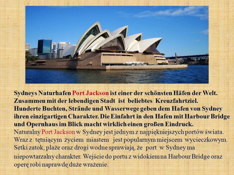 Sydneys Naturhafen Port Jackson ist einer der schönsten Häfen der Welt. Zusammen mit der lebendigen Stadt ist beliebtes Kreuzfahrtziel. Hunderte Bucht