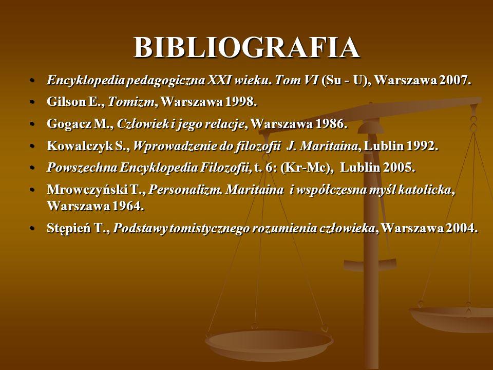 BIBLIOGRAFIA Encyklopedia pedagogiczna XXI wieku.