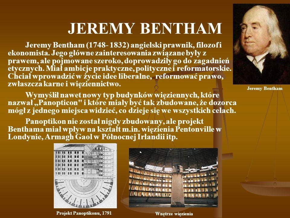JEREMY BENTHAM Jeremy Bentham (1748- 1832) angielski prawnik, filozof i ekonomista. Jego główne zainteresowania związane były z prawem, ale pojmowane
