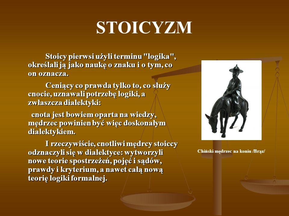 STOICYZM Stoicy pierwsi użyli terminu
