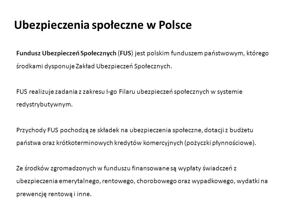 Fundusz Ubezpieczeń Społecznych (FUS) jest polskim funduszem państwowym, którego środkami dysponuje Zakład Ubezpieczeń Społecznych. FUS realizuje zada