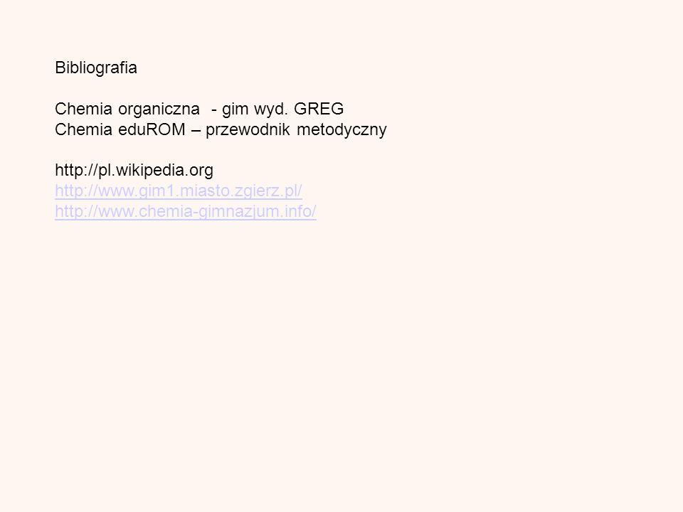 Bibliografia Chemia organiczna - gim wyd.