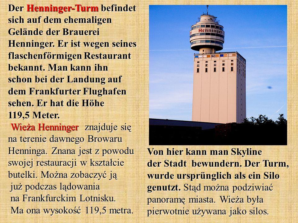 Von hier kann man Skyline der Stadt bewundern. Der Turm, wurde ursprünglich als ein Silo genutzt.