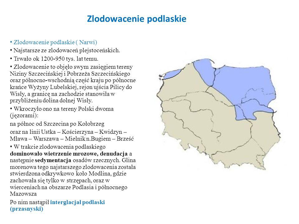 Zlodowacenie krakowskie To najpotężniejsze z polskich zlodowaceń, Trwało ok.