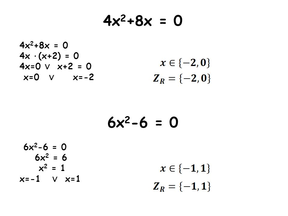 x 2 -4x+4 = 0 a=1 b=-4 c=4 Δ = b 2 - 4ac Δ = (-4) 2 - 4·1·4 Δ = 16 - 16 Δ = 0 - wyznaczamy jedno miejsce zerowe