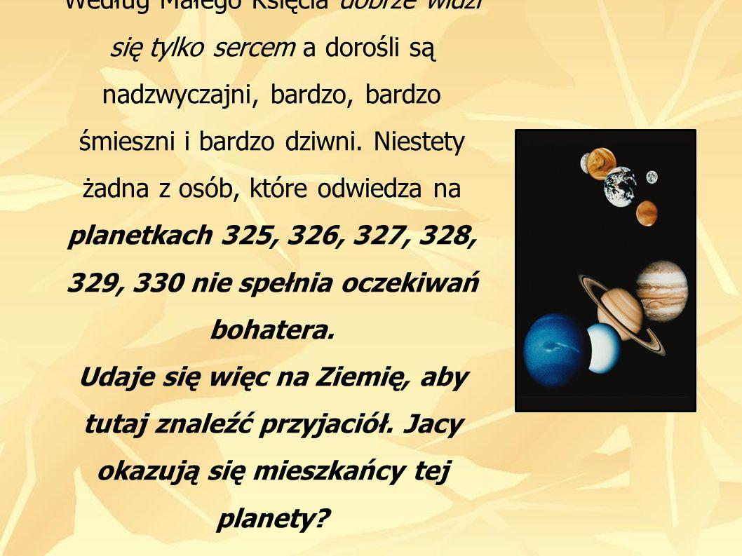Zdaniem Małego Księcia mieszkańcy Ziemi skupiają wszystkie dziwactwa spotkane na innych planetach.
