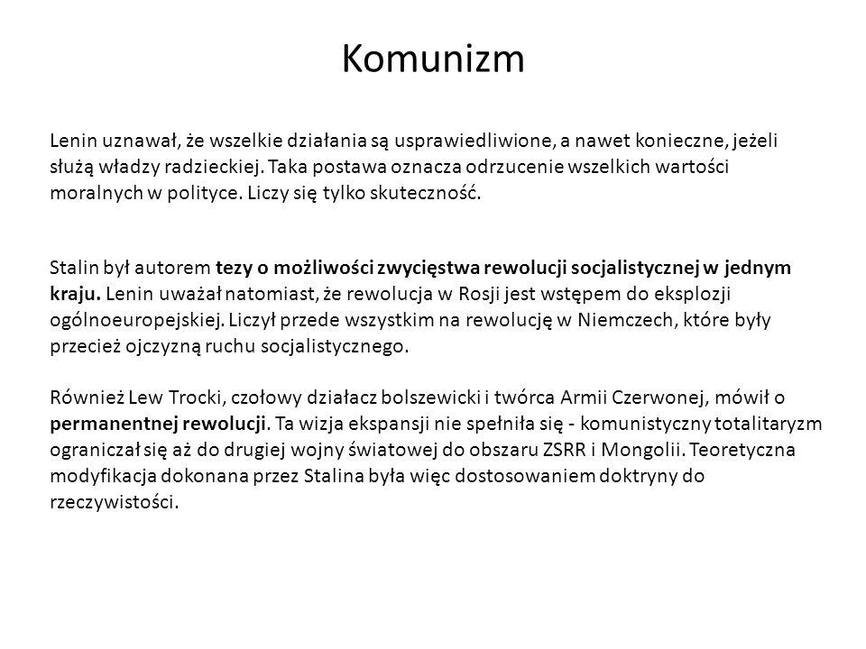 Nurty komunizmu Stalinizm – doktryna stworzona przez Józefa Stalina, oparta na uproszczonej i sprzecznej wewnętrznie interpretacji poglądów Marka i Lenina.