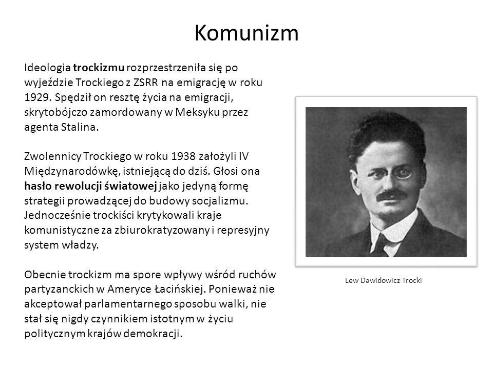 Trockizm – kierunek w ruchu komunistycznym zapoczątkowany przez Lwa Trockiego.