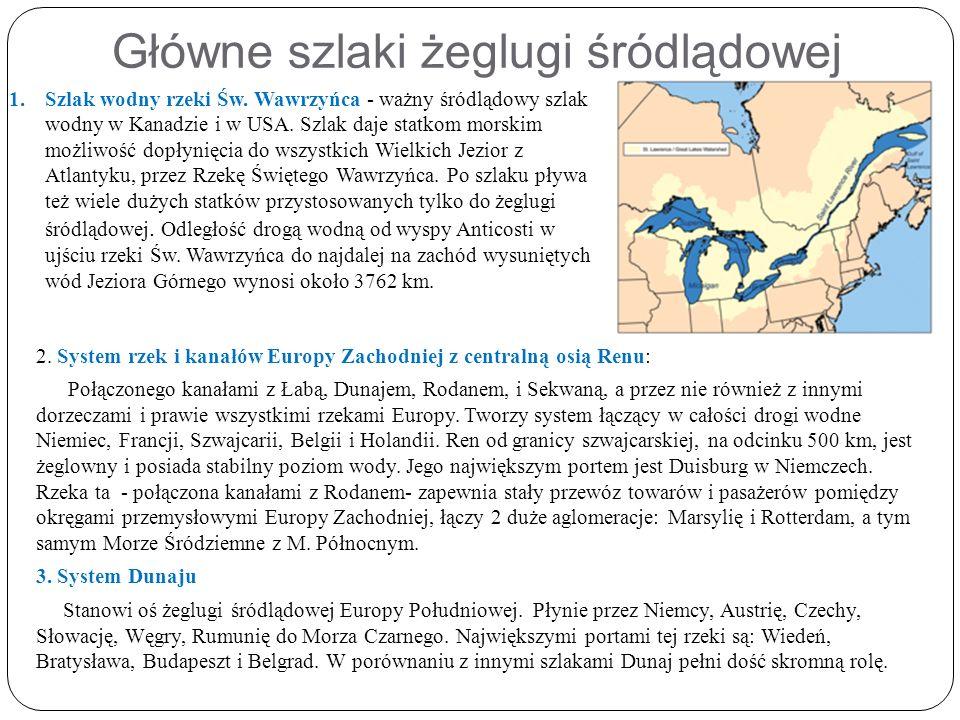 Główne szlaki żeglugi śródlądowej 2.