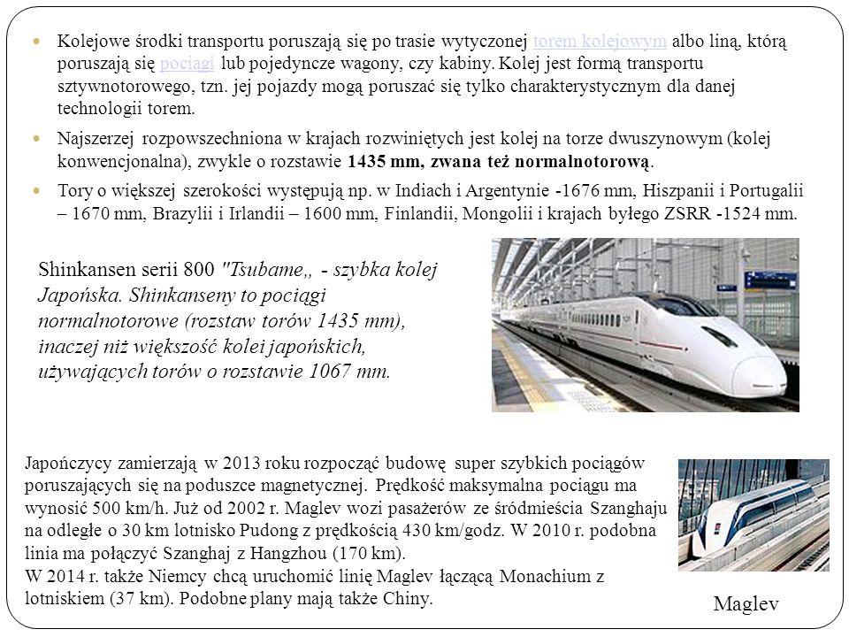 Kolejowe środki transportu poruszają się po trasie wytyczonej torem kolejowym albo liną, którą poruszają się pociągi lub pojedyncze wagony, czy kabiny.