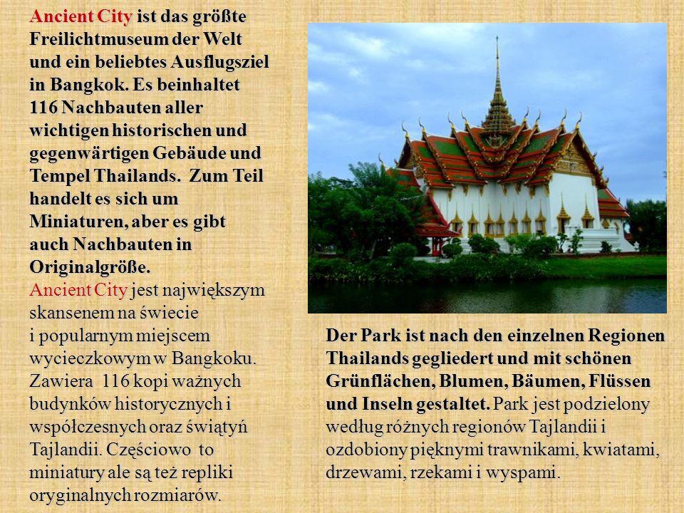 Ancient City ist das größte Freilichtmuseum der Welt und ein beliebtes Ausflugsziel in Bangkok.