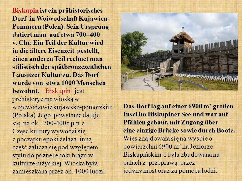 Biskupin ist ein prähistorisches Dorf in Woiwodschaft Kujawien- Pommern (Polen).