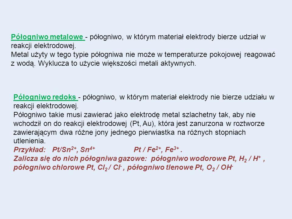 Półogniwo metalowe - półogniwo, w którym materiał elektrody bierze udział w reakcji elektrodowej. Metal użyty w tego typie półogniwa nie może w temper