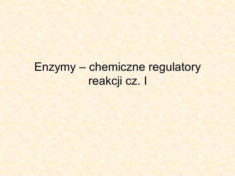 Apoenzym – warunkuje specyficzność substratową działania enzymu, gdyż wskazuje powinowactwo do substratu.