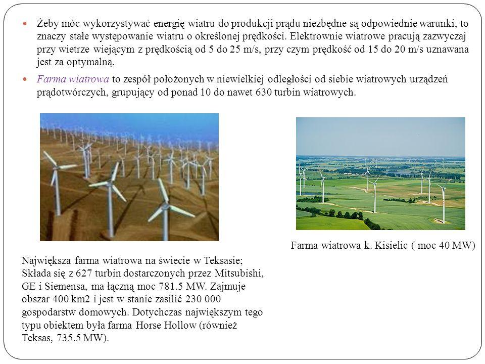 Żeby móc wykorzystywać energię wiatru do produkcji prądu niezbędne są odpowiednie warunki, to znaczy stałe występowanie wiatru o określonej prędkości.